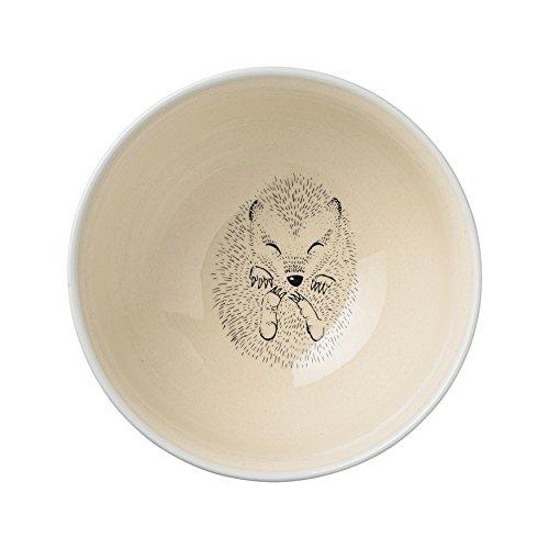 Bloomingville Ceramic Marius Low Bowl with Mint Snail